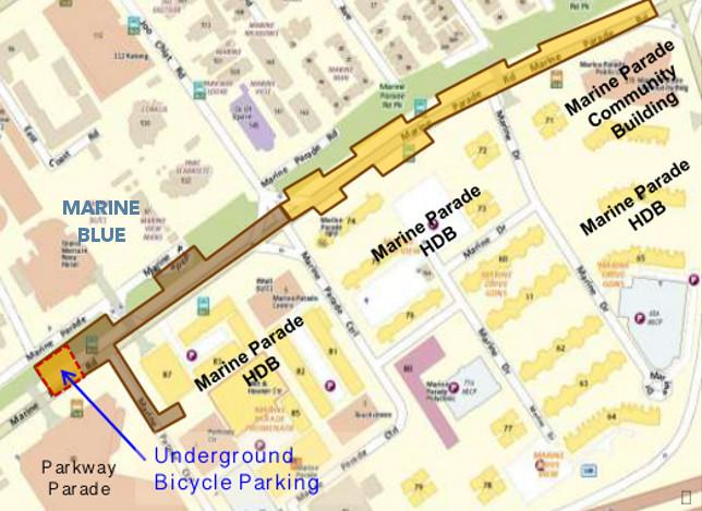 Marine Blue MRT Station @ Marine Parade